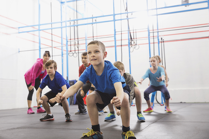 Kids practicing angry gorilla walk in Crossfit class  Image downloaded by Sally Berman at 21:37 on the 20/05/15